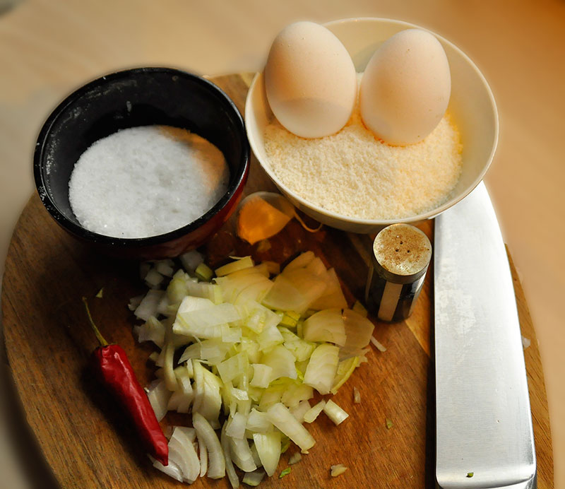 Omelet with Coconut ingredients