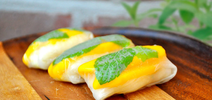 Authentic indonesian recipes easy healthy and delicious mango sticky rice springroll forumfinder Choice Image