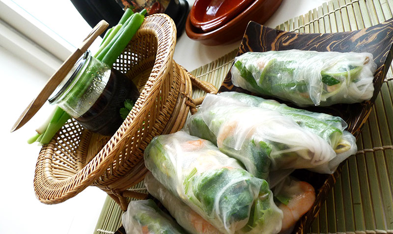 These Spring Rolls From Vietnam Are The Best Summer Finger Food There Is It S A Bit Of Work To Make But You Can Easily Prepare These Rolls In The Morning