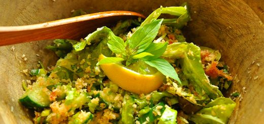 Authentic indonesian recipes easy healthy and delicious terancam salad with leek and thai basil forumfinder Images